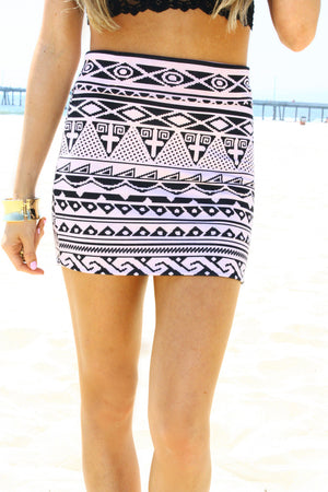 PINK TRIBAL SKIRT - Haute & Rebellious