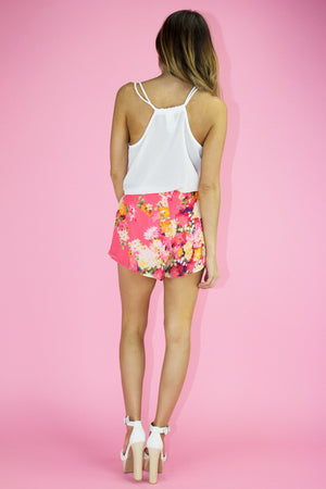 FLORAL SHORTS - Peach - Haute & Rebellious