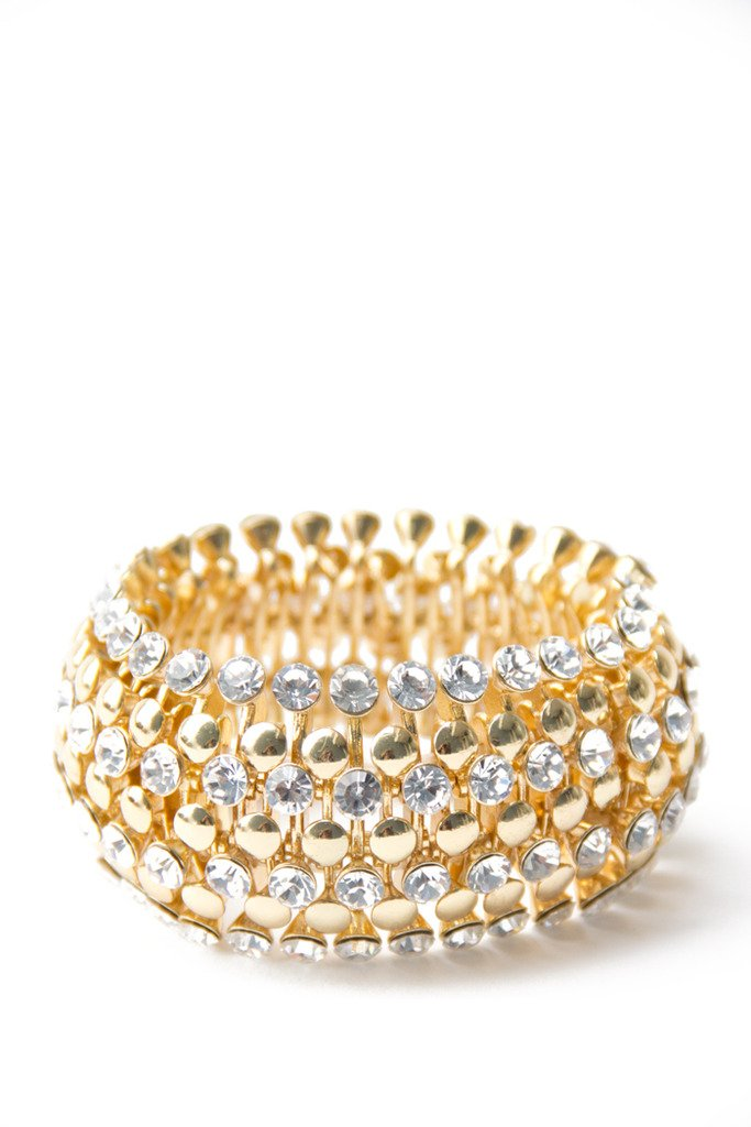CRYSTAL BRACELET - gold