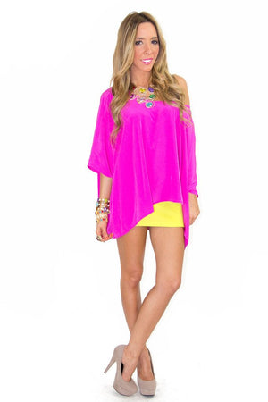 ESTER ELECTRIC FUCHSIA TUNIC - Haute & Rebellious