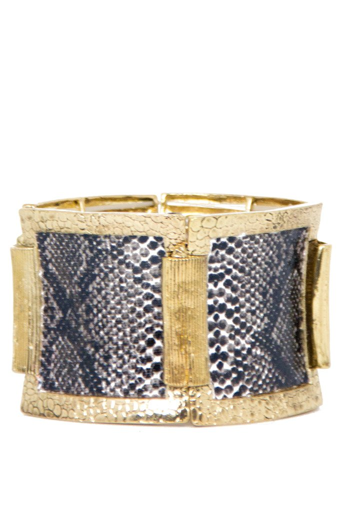 GOLD ANIMAL PRINT BRACELET - Haute & Rebellious