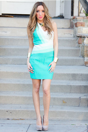 VELMA BANDAGE BODYCON DRESS - Mint - Haute & Rebellious