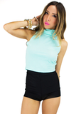 TURTLENECK CROP TOP - Mint