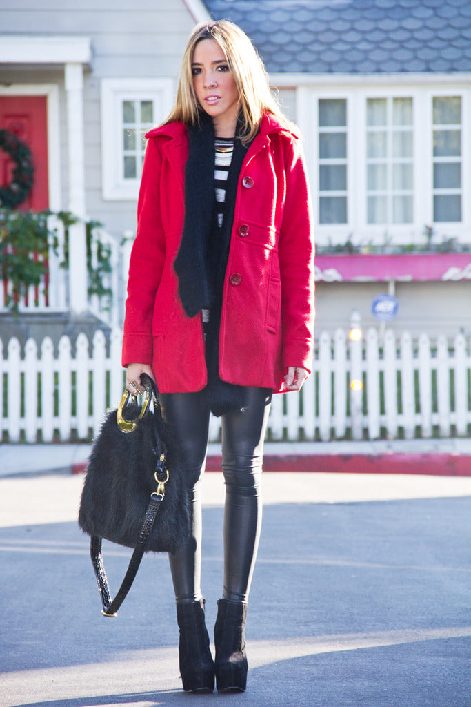 WINTER WOOL COAT - Red - Haute & Rebellious