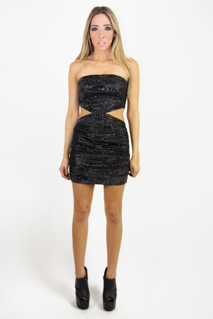 BLACK THEORY CUTOUT DRESS