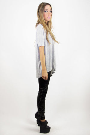 JACOB'S JERSEY T - Soft Gray - Haute & Rebellious