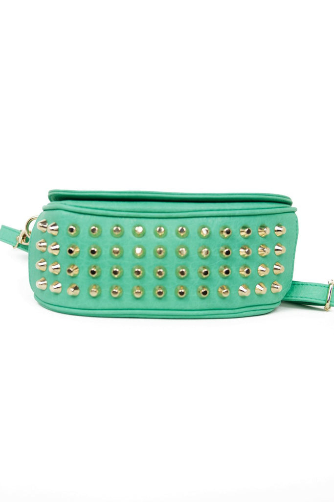 GOLD STUDDED SATCHEL - Mint