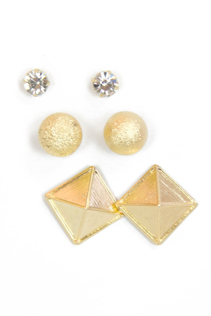 GOLD EARRING COMBO - Haute & Rebellious