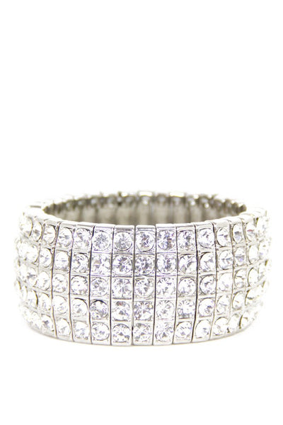 CLASSIC CRYSTAL BRACELET - silver