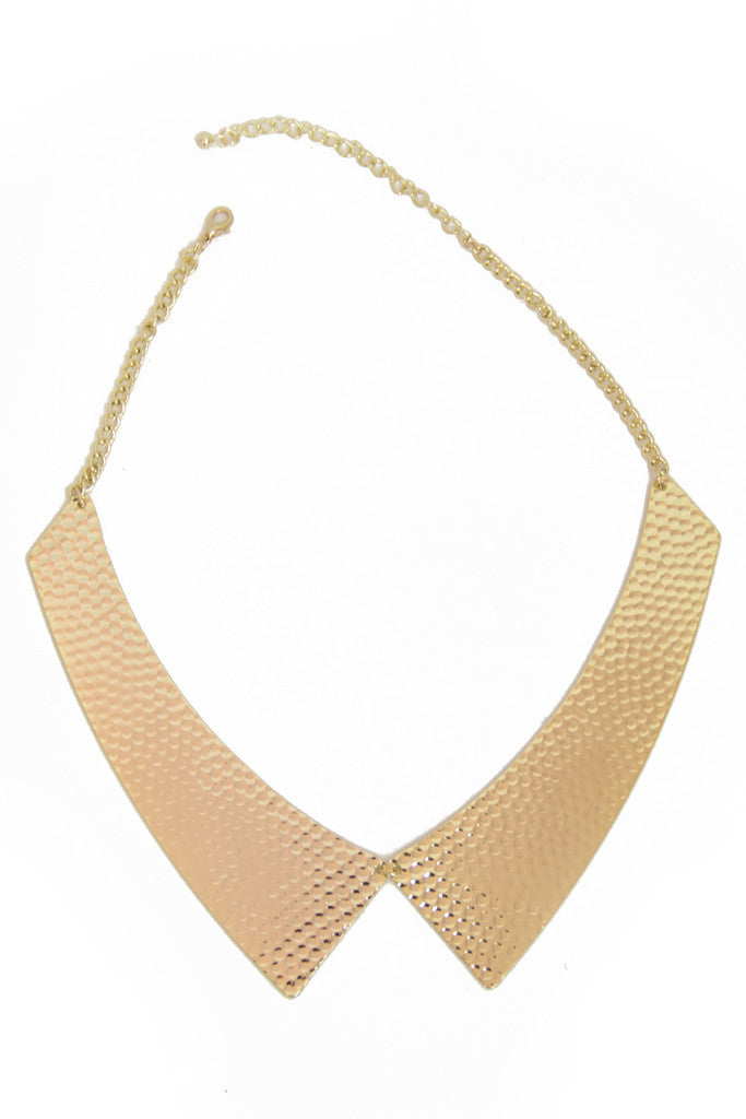 SOLID COLLAR NECKLACE - Gold