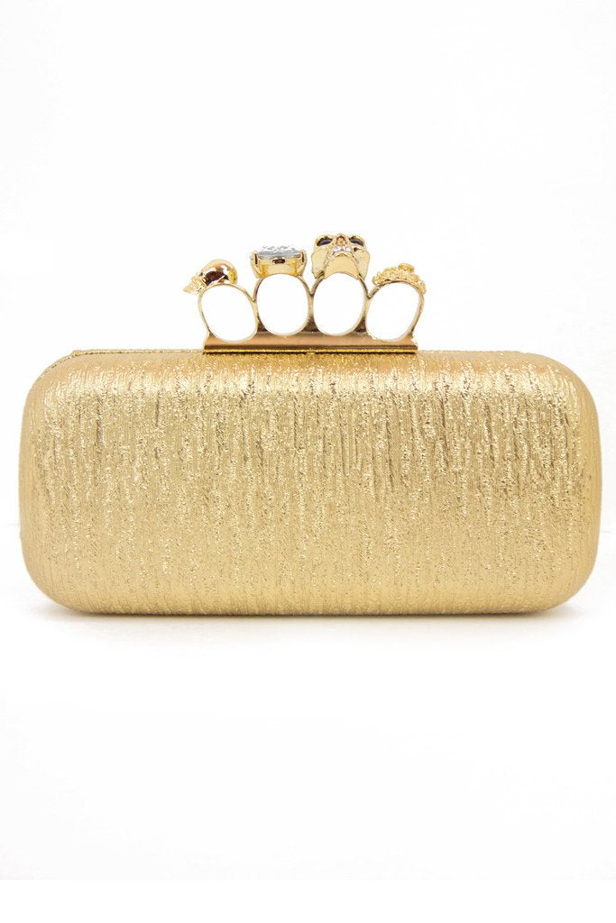 BRASS KNUCKLE CLUTCH - Gold