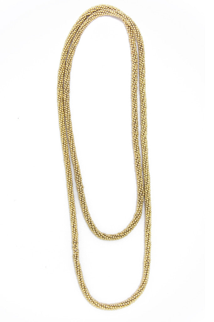 ROMAN GOLD ROPE CHAIN NECKLACE