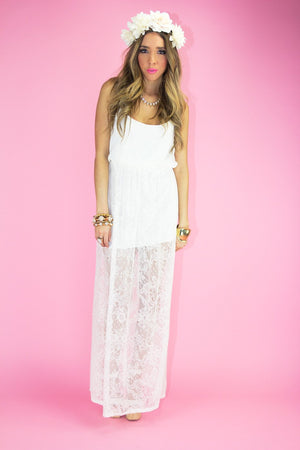 ISABELLA LACE DRESS - White - Haute & Rebellious