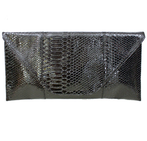 SNAKESKIN ENVELOPE CLUTCH - Haute & Rebellious