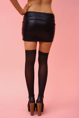 Haute & Rebellious LIQUID LEATHER MINI SKIRT in [option2]
