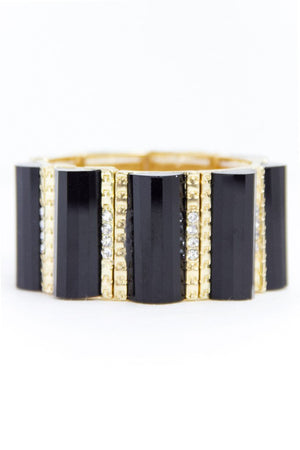 AMELIA BRACELET - Black & Gold - Haute & Rebellious