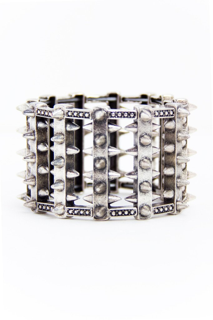 MULTI STUDDED BRACELET - Silver (Final Sale)