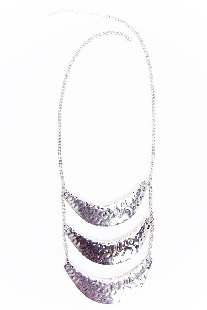 MULTI PLATED NECKLACE - Silver