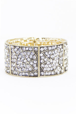 DAKOTA CRYSTAL CUFF BRACELET - Haute & Rebellious