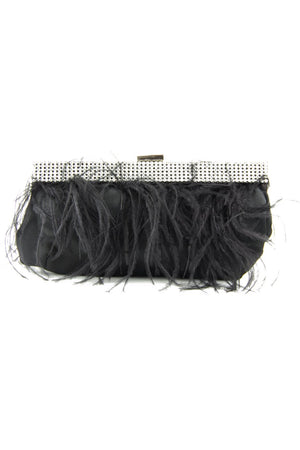 FEATHER CLUTCH - Black - Haute & Rebellious