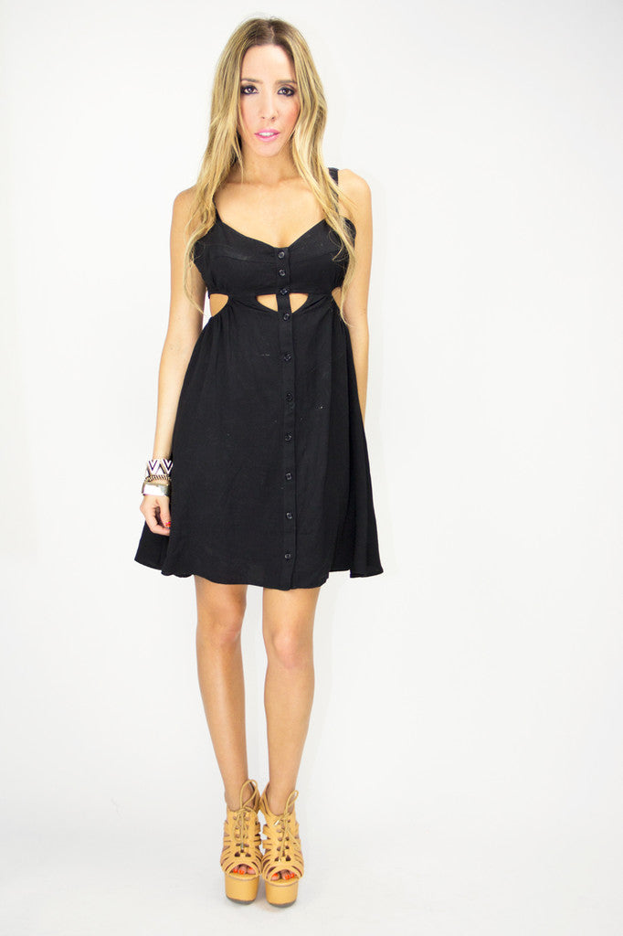 SOPHIE CUTOUT DRESS - Black (FINAL SALE)