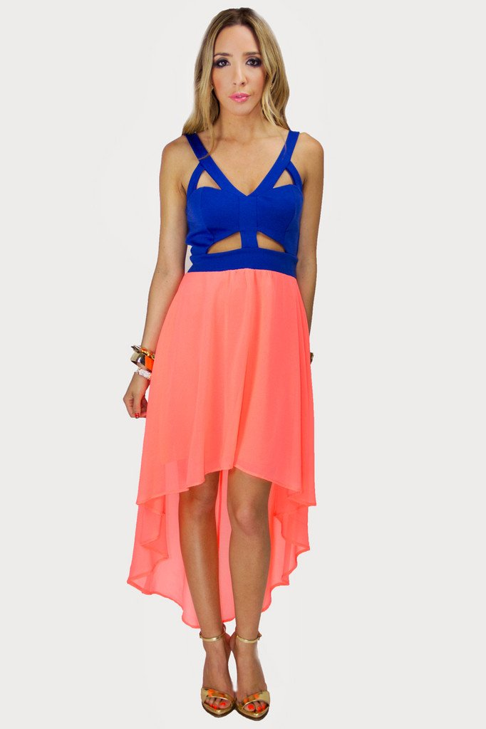 HAILEY CUTOUT NEON DRESS
