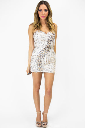 SEQUIN FRINGE DRESS - Haute & Rebellious