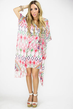 MULTICOLOR TRIBAL KAFTAN - Haute & Rebellious