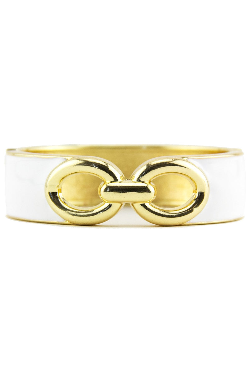 INTERLOCKING GEL BANGLE - White - Haute & Rebellious