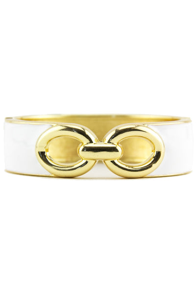 INTERLOCKING GEL BANGLE - White