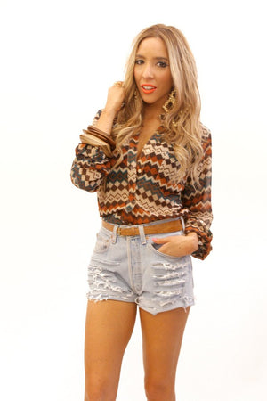 NEW MEXICO POCKET SHIRT BLOUSE - Haute & Rebellious