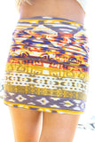 ORANGE TRIBAL SKIRT
