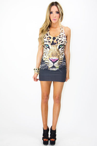 FELINA CHEETAH PRINT DRESS - Haute & Rebellious