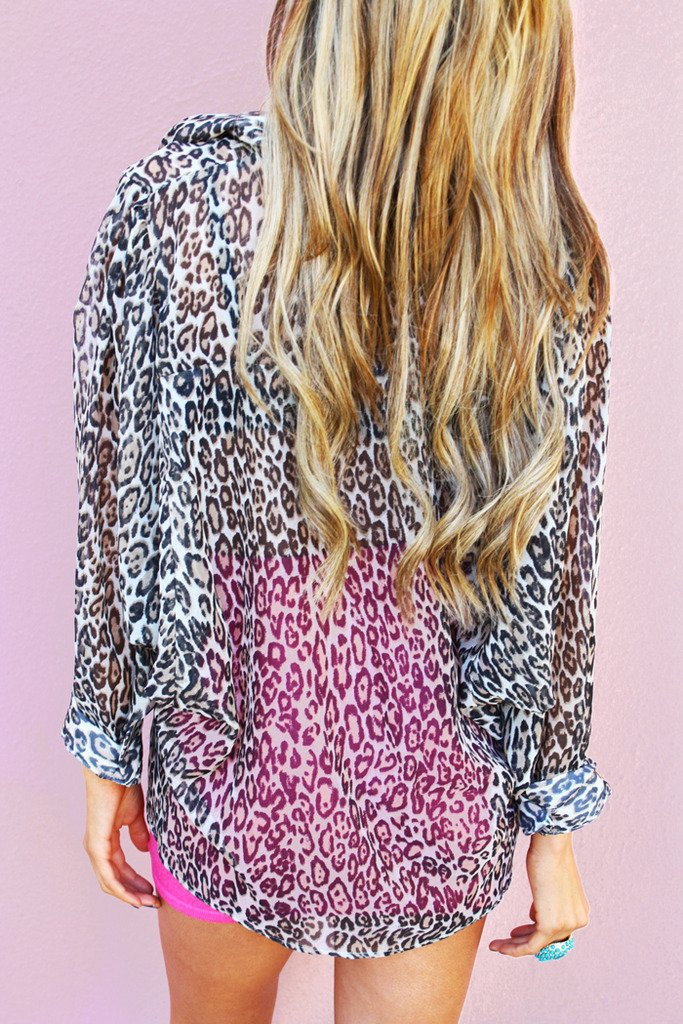 LEOPARD BAT SLEEVE BLOUSE - Haute & Rebellious