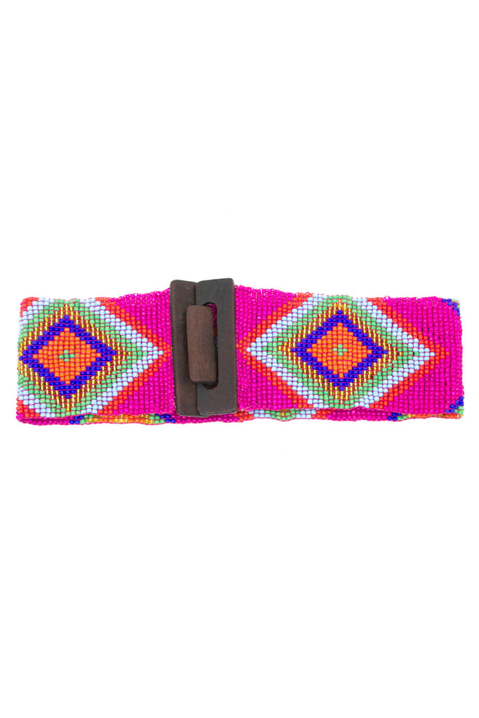 TRIBAL BEAD STRETCH BELT