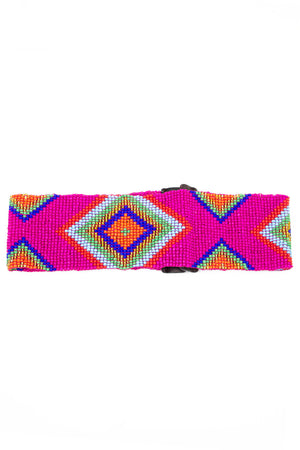 TRIBAL BEAD STRETCH BELT - Haute & Rebellious