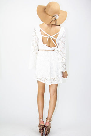 MADISON LACE DRESS - White - Haute & Rebellious