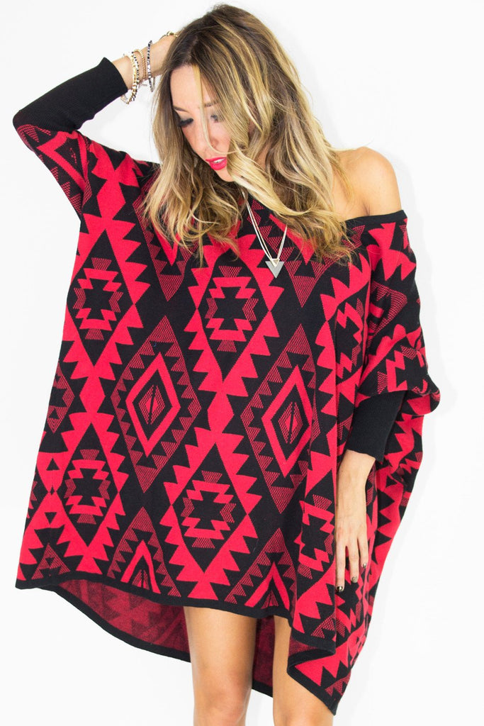 KIMI TRIBAL PRINT SWEATER
