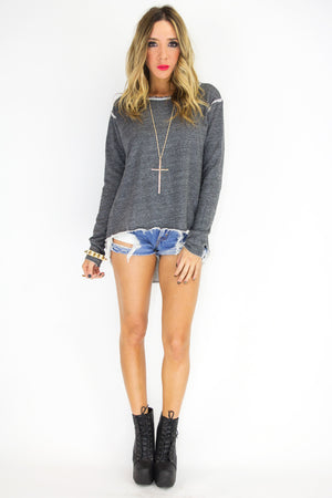 SKELETON CUTOUT BACK SWEATSHIRT - Haute & Rebellious