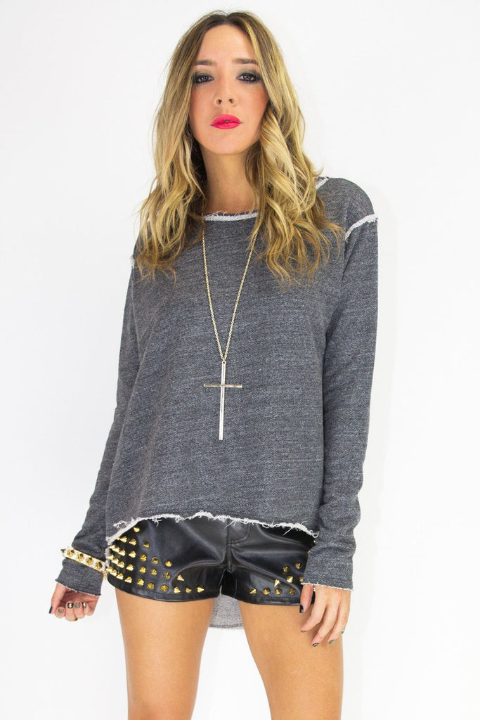 GOLD SPIKES LEATHER SHORTS (Final Sale)