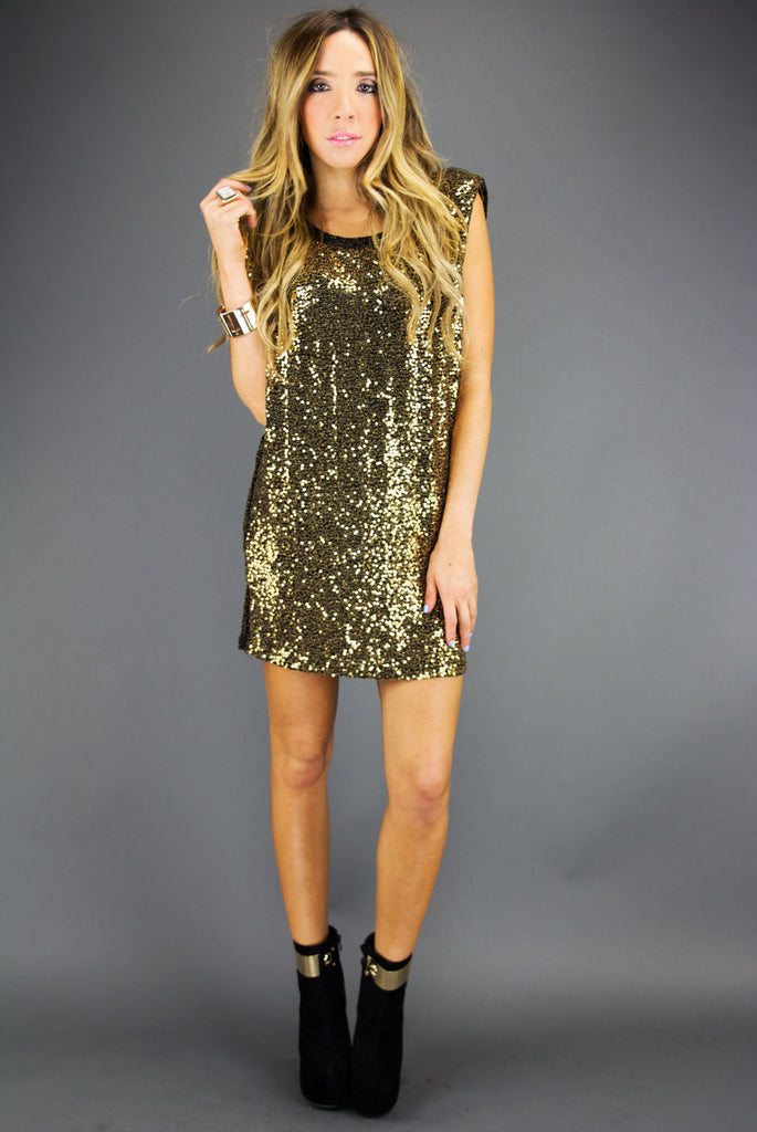 SEQUIN TUNIC - Gold