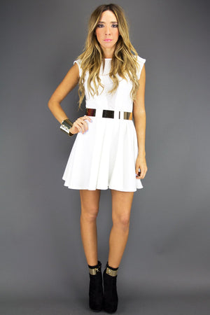 LITA MESH DRESS - White - Haute & Rebellious