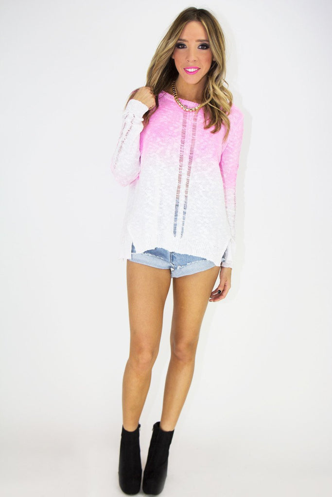 NISSA NEON DYE KNIT SWEATER (Final Sale) - Haute & Rebellious
