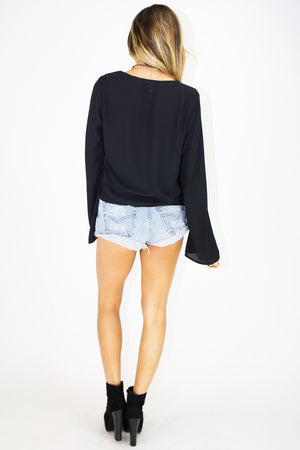 LITA LACE TRIM CROPPED BLOUSE - Haute & Rebellious