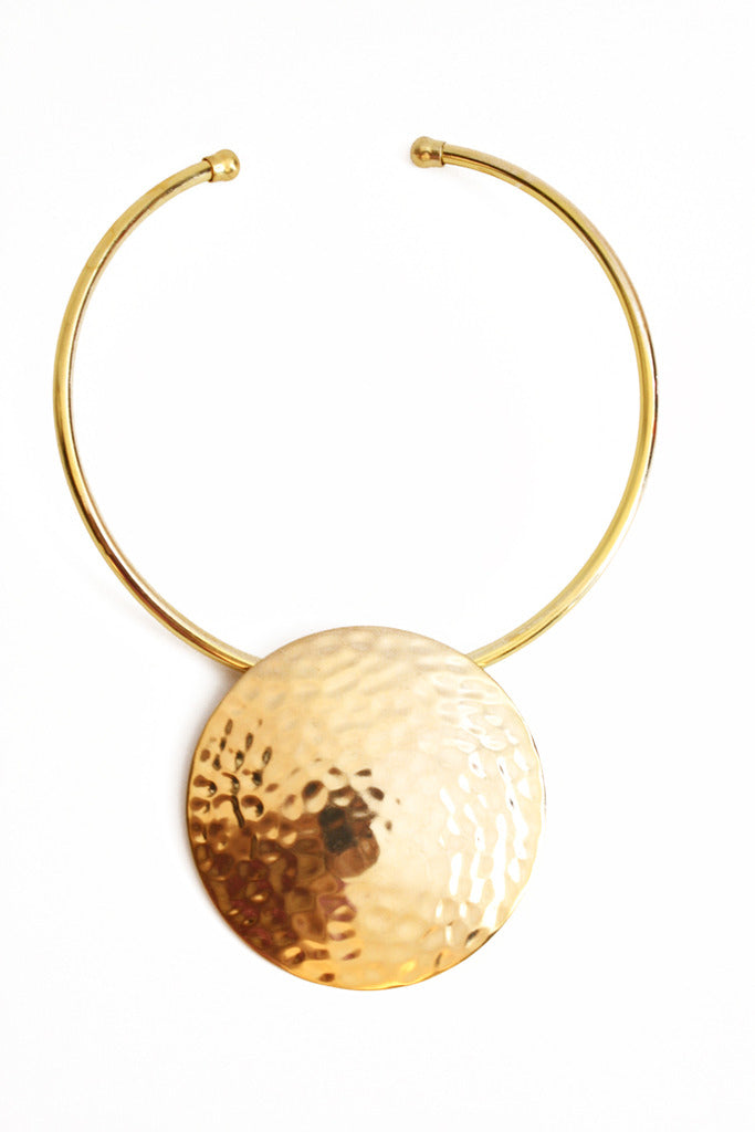 Haute & Rebellious OVERSIZED CIRCLE NECKLACE- sold out in [option2]
