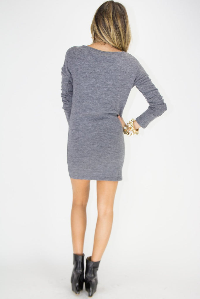 GOLD STUDDED CROSS SWEATER DRESS