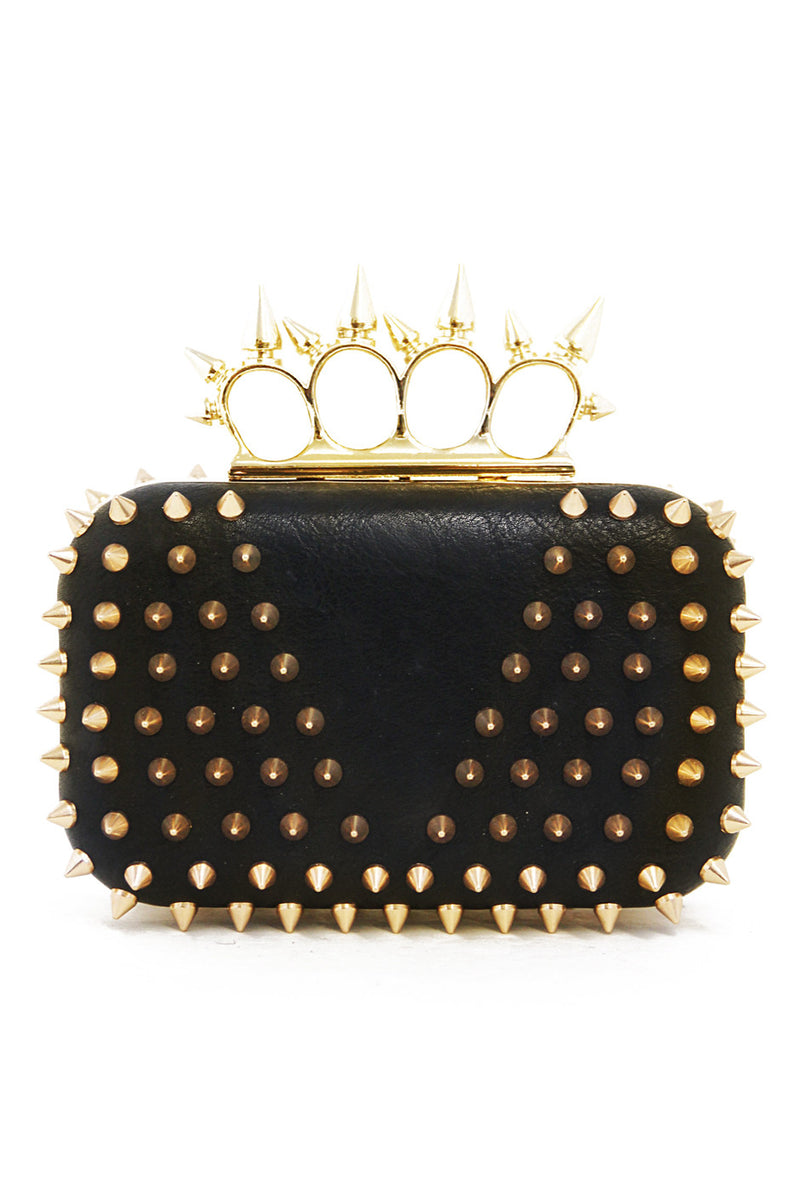 SPIKE CLUTCH - Black/Gold - Haute & Rebellious