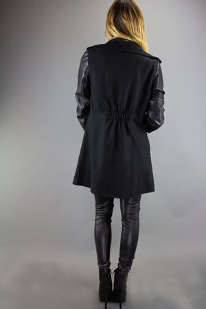 SILVER ZIP BIKER COAT - Black - Haute & Rebellious
