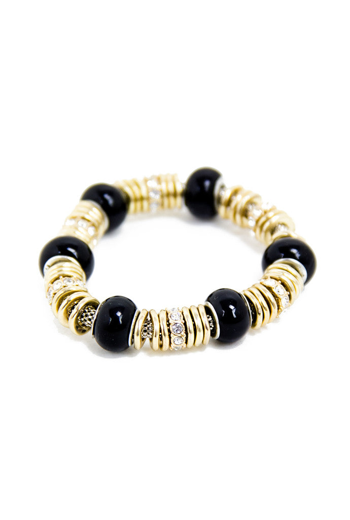 PETITE CIRCLE BRACELET - Gold/Black - Haute & Rebellious