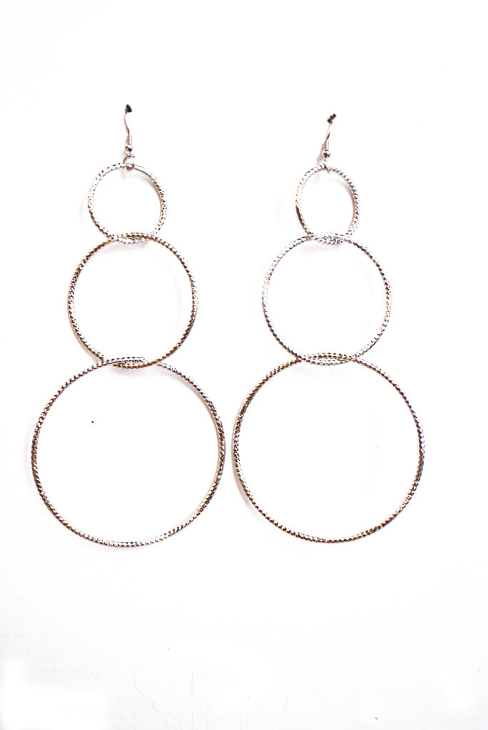TRIPLE CIRCLE EARRINGS - Haute & Rebellious